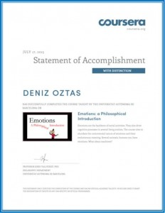 Emotions a Philosophical Introduction Certifcate_Deniz Oztas